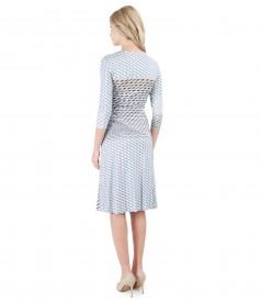 Elegant dress made of printed jersey