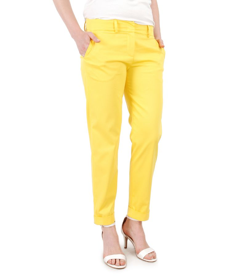 Elegant pants made of textured cotton