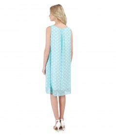 Veil dress printed with dots