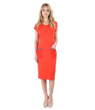Casual dress with veil pockets