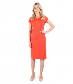 Elegant dress with side pockets