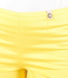 Elastic cotton skinny pants