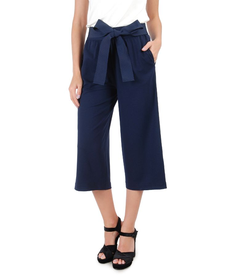 3/4 pants with waist belt