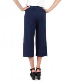 3/4 pants with waist belt