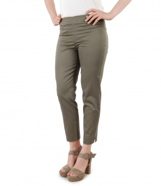 Elastic cotton skinny pants