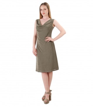 Elastic jersey dress embellished with crystals from Swarovski<sup style=font-size:0.5em></sup>