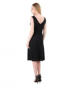 Elastic jersey dress embellished with crystals