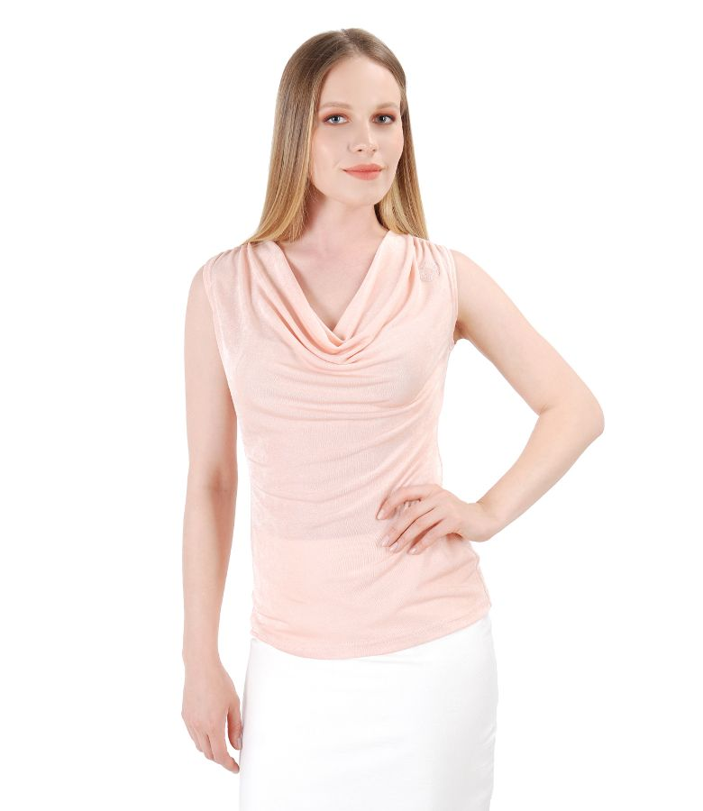 Uni jersey blouse embellished with crystals from Swarovski<sup style=font-size:0.5em></sup>
