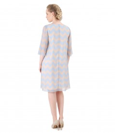 Casual veil dress printed with stripes