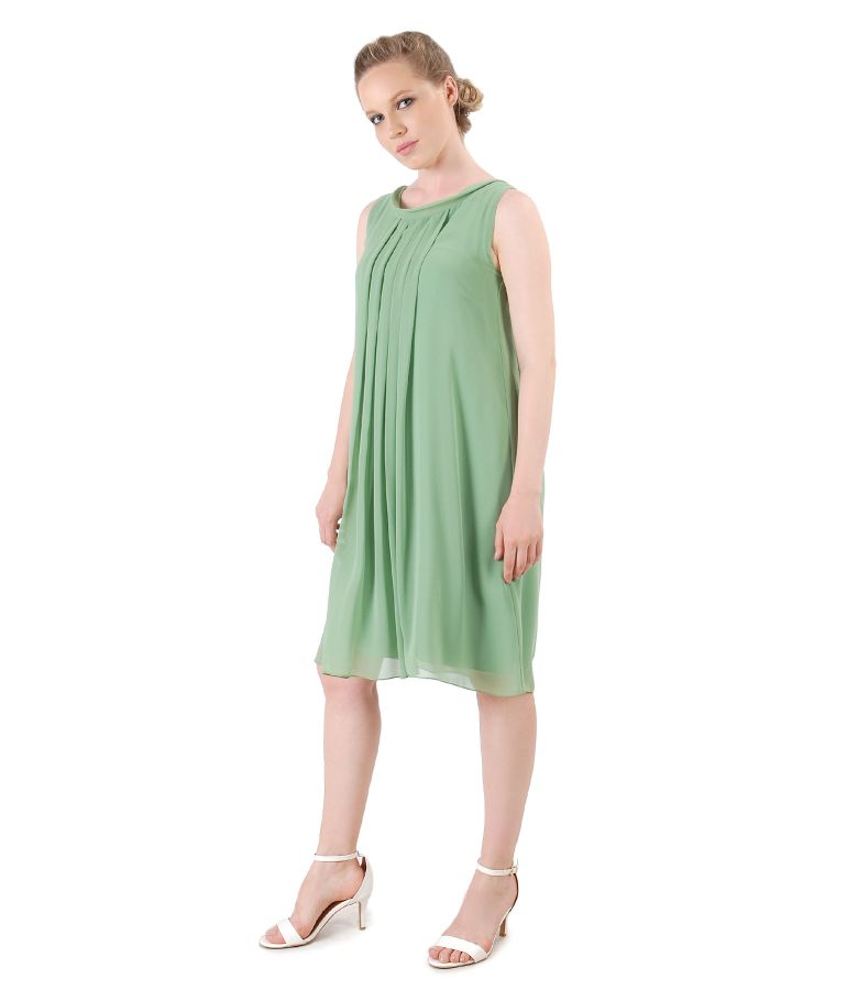 Veil dress with front folds