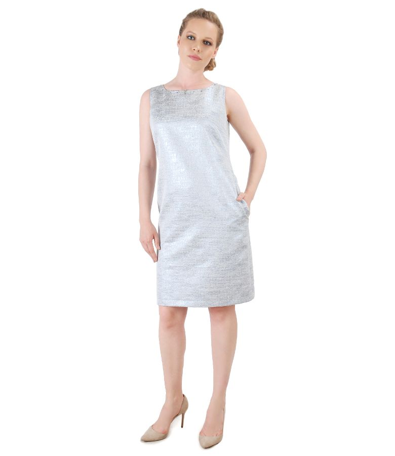 Dress with effect thread embellished with crystals