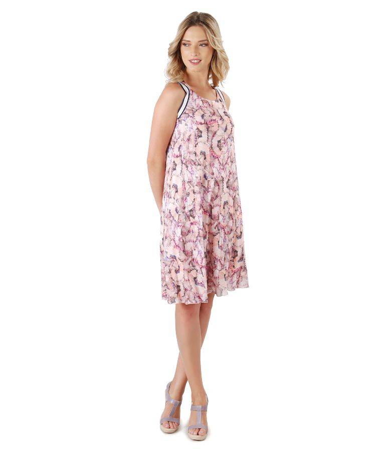 Casual dress made of viscose with floral print