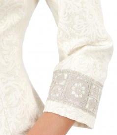 Jacket made of brocade with cotton and golden thread