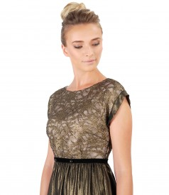 Evening dress lace and pearls