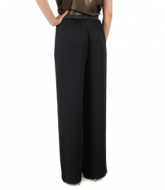 Elegant viscose pants with precious elastic waist