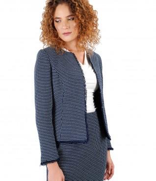 Elegant jacket with multicolor loops