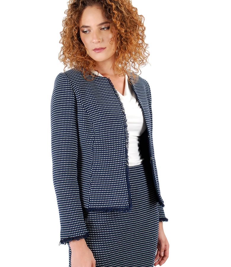 Elegant jacket with multicolor loops