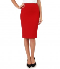 Textured fabric elegant skirt