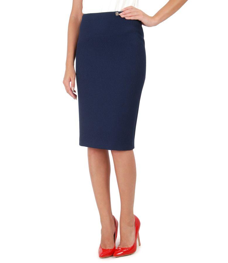 Textured fabric elegant skirt