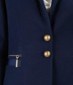 Textured fabric office jacket