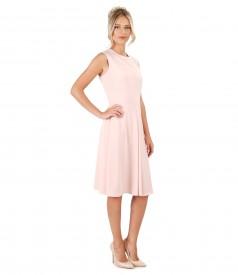 Flaring dress made of elastic fabric