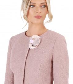Elegant jacket with wool and alpaca loops