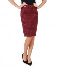 Elegant skirt made of multicolor loops