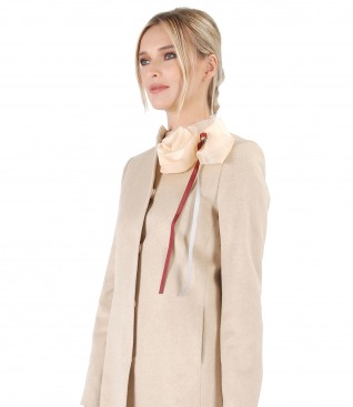 Elegant jacket with wool and cotton