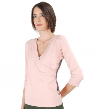 Uni jersey blouse with rips band