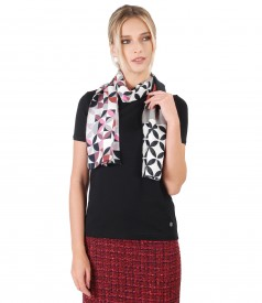 Scarf with geometric print