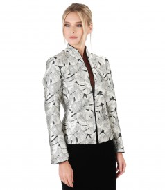 Elegant jacket with floral print