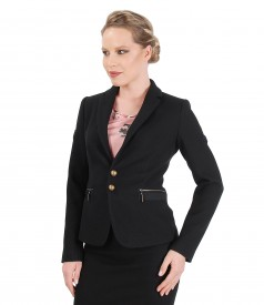 Textured fabric office jacket