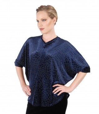 Evening butterfly blouse with front folds