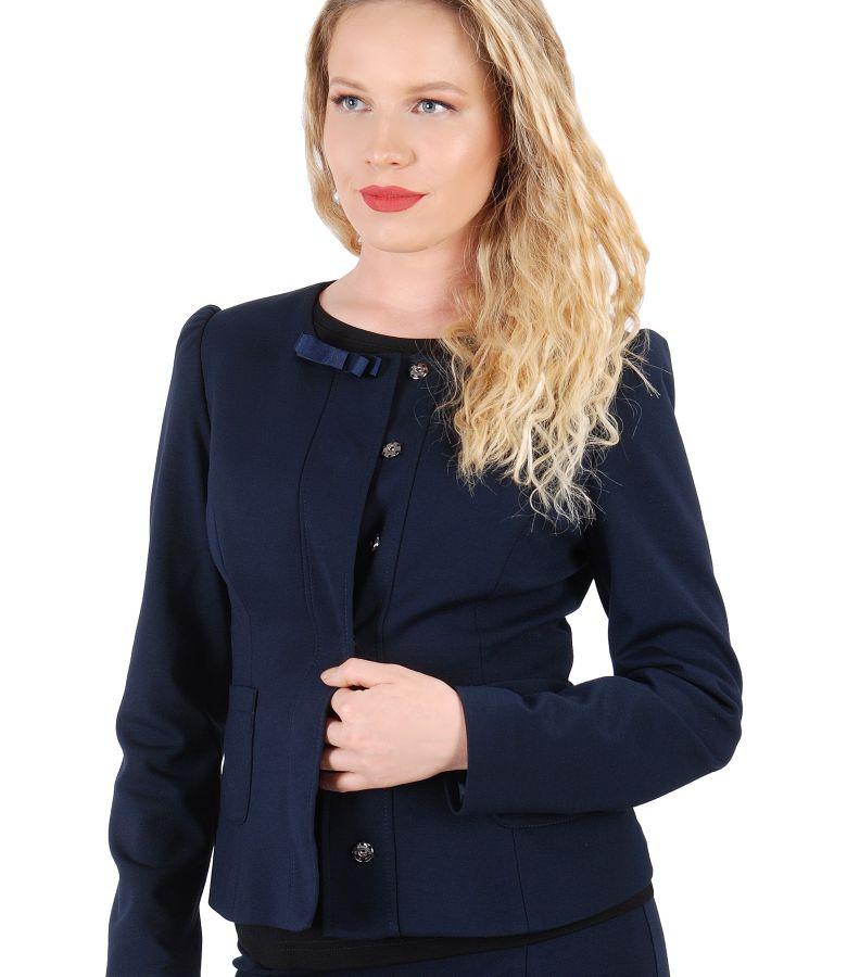 Elastic jersey jacket