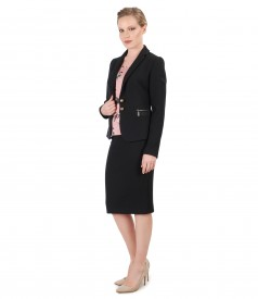 Office women suit with skirt and textured fabric