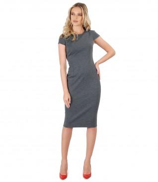 Midi elastic jersey dress