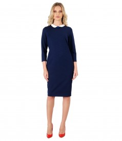 Midi dress made of jersey with lace corner print
