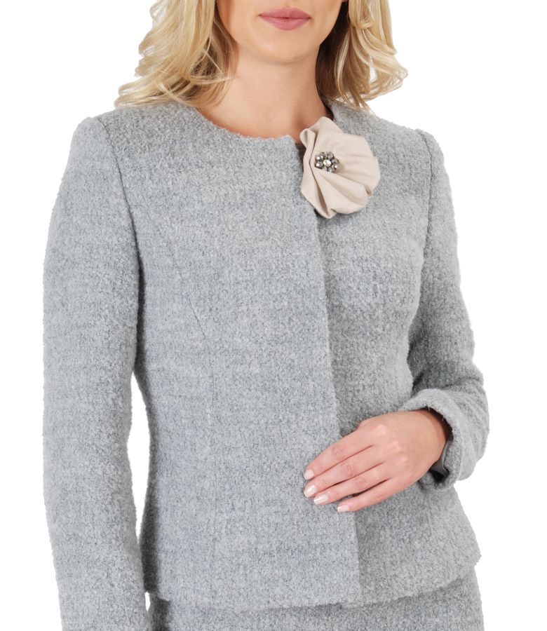 Elegant jacket with wool and alpaca loops