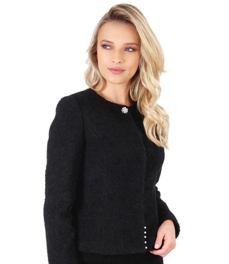 Jacket made of wool and alpaca loops