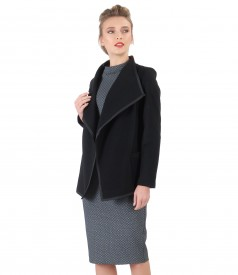 Elastic jersey dress with jacket made of wool and cashmere
