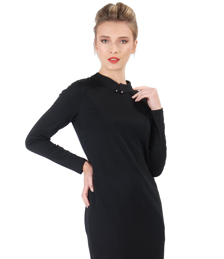 Midi dress made of elastic jersey with long sleeves