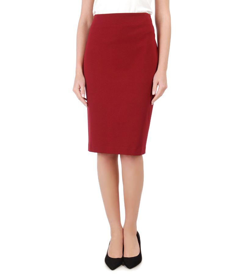 Elegant elastic jersey skirt