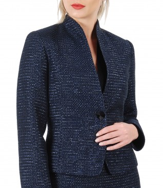 Elegant jacket made of loops with effect thread