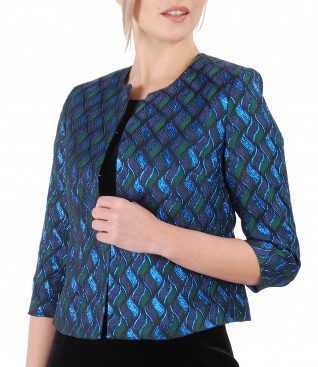 Elegant jacket made of brocade with effect thread