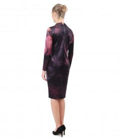 Midi dress made of printed velvet