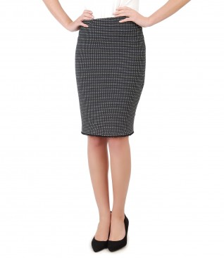 Office skirt made of cotton loops