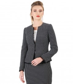 Elegant jacket made of cotton loops
