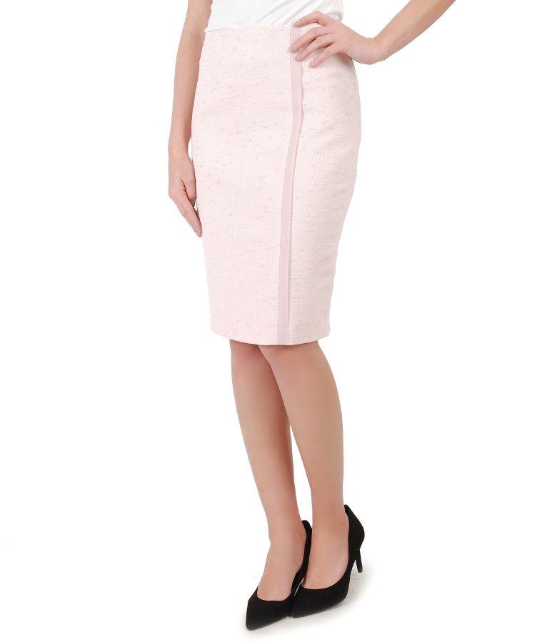 Elegant skirt with front veil trim