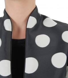 Elegant jacket with dots print