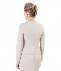 Elegant jacket made of elastic fabric